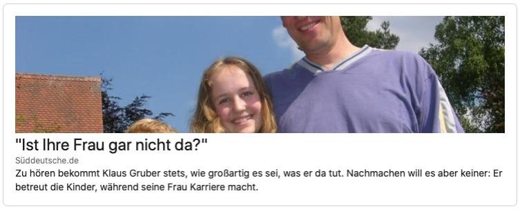 Leben als Hausmann mit einer Frau die Karriere macht - Süddeutsche